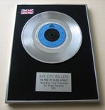 BAY CITY ROLLERS - YOU MADE ME BELIEVE IN MAGIC Platinum Single presentation Disc
